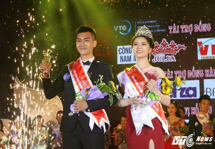 """Vẻ ngoài ấn tượng với gương mặt điển trai, chiều cao 1m81, Ninh Anh Thắng đã tự tin trải qua các phần thi một cách xuất sắc và giành ngôi vị """"nam vương"""" của cuộc thi."""